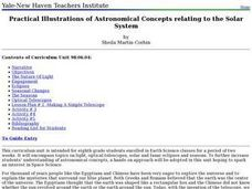 Practical Illustrations of Astronomical Concepts Relating to the Solar System Lesson Plan
