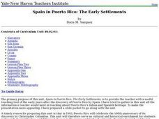 Spain in Puerto Rico: The Early Settlements Lesson Plan
