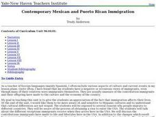Contemporary Mexican and Puerto Rican Immigration Lesson Plan