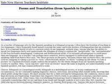 Poems and Translation (from Spanish to English) Lesson Plan