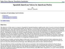 Spanish-American Voices in American Poetry Lesson Plan