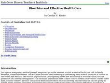 Bioethics and Effective Health Care Lesson Plan