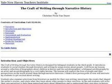 The Craft of Writing through Narrative History Lesson Plan