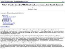 Who's Who In America? Multicultural Achievers A to Z Past & Present Lesson Plan