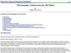 The Genome: Controversy for All Times Lesson Plan