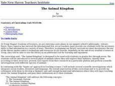 The Animals Kingdom Lesson Plan