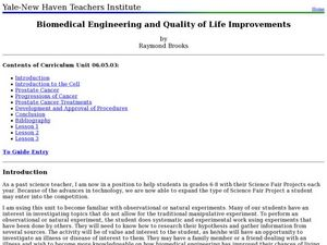 Biomedical Engineering and Quality of Life Improvements Lesson Plan