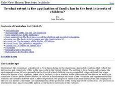 Children and Family Law Lesson Plan