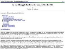 In the Struggle for Equality and Justice for All Lesson Plan