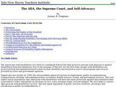 The ADA, the Supreme Court, and Self-Advocacy Lesson Plan