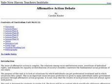 Affirmative Action Debate Lesson Plan