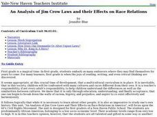 An Analysis of Jim Crow Laws and their Effects on Race Relations Lesson Plan