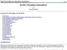 Earth's Changing Atmosphere Lesson Plan