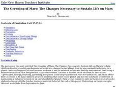 The Greening of Mars: The Changes Necessary to Sustain Life on Mars Lesson Plan