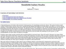 Twentieth-Century Oracles Lesson Plan