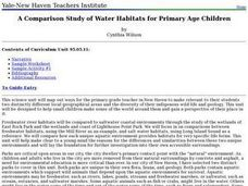 environment: Fresh and Saltwater Habitats Lesson Plan