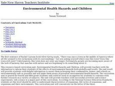Environmental Health Hazards and Children Lesson Plan