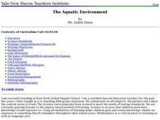 The Aquatic Environment Lesson Plan