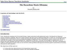 The Hazardous Waste Dilemma Lesson Plan