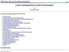 Lead Contamination In Our Environment Lesson Plan