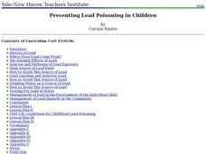Preventing Lead Poisoning in Children Lesson Plan