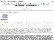 Nonpoint Source Pollution in Long Island Sound Lesson Plan