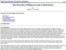 The Diversity of Filipinos in the United States Lesson Plan