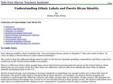 Understanding Ethnic Labels and Puerto Rican Identity Lesson Plan
