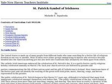 Social Studies: St. Patrick - Symbol of Irishness Lesson Plan