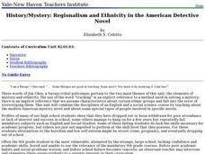 History/Mystery: Regionalism and Ethnicity in the American Detective Novel Lesson Plan