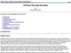 Writing Through Reading Lesson Plan