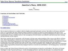 America's Wars, 1898-1945 Lesson Plan