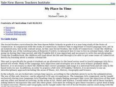 My Place In Time Lesson Plan