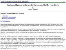 Spain and France Influence in Europe and in the New World Lesson Plan