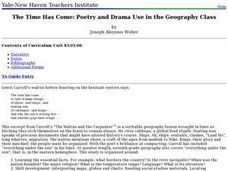 The Time Has Come: Poetry and Drama Use in the Geography Class Lesson Plan