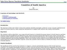 Countries of South America Lesson Plan