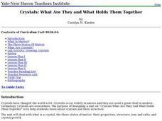 Crystals: What Are They and What Holds Them Together Lesson Plan