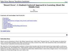 Desert Fever: A Student-Centered Approach to Learning About the Middle East Lesson Plan
