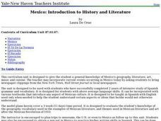 Mexico: Introduction to History and Literature Lesson Plan