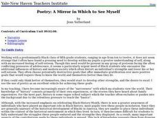 Poetry: A Mirror in Which to See Myself Lesson Plan