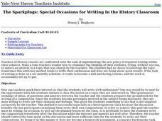 The Sparkplugs: Special Occasions for Writing In the History Classroom Lesson Plan