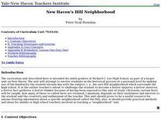 New Haven's Hill Neighborhood Lesson Plan