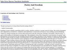 Poetry And Freedom Lesson Plan