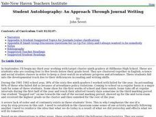 Student Autobiography: An Approach Through Journal Writing Lesson Plan