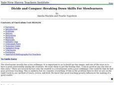 Divide and Conquer: Breaking Down Skills For Slowlearners Lesson Plan