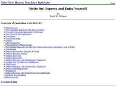 Write On! Express and Enjoy Yourself Lesson Plan