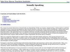 Sexually Speaking Lesson Plan