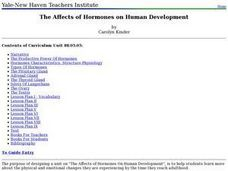 The Affects of Hormones on Human Development Lesson Plan