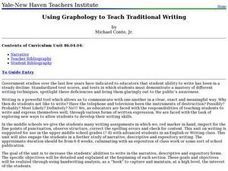 Using Graphology to Teach Traditional Writing Lesson Plan