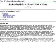 Creative Writing: Children's Building Blocks Lesson Plan